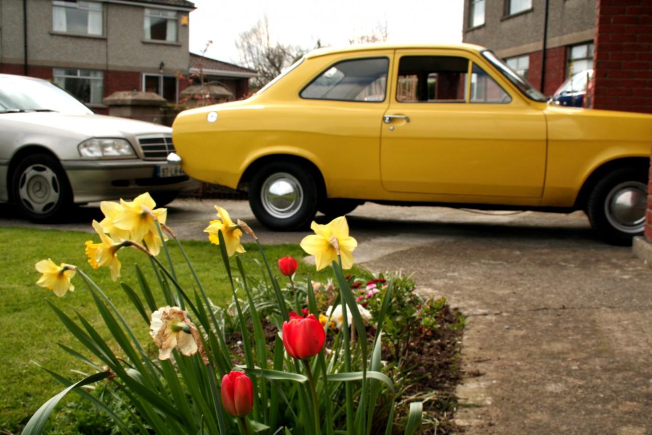 Yellow Bird Ford Escort