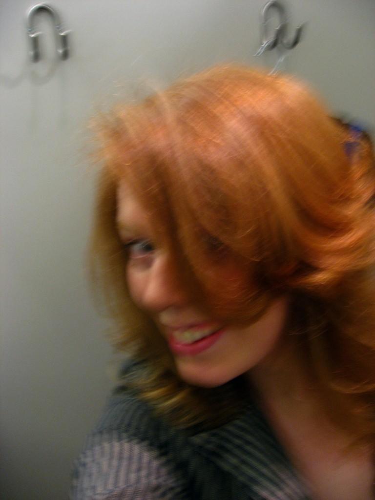 Bouncy blurry hair