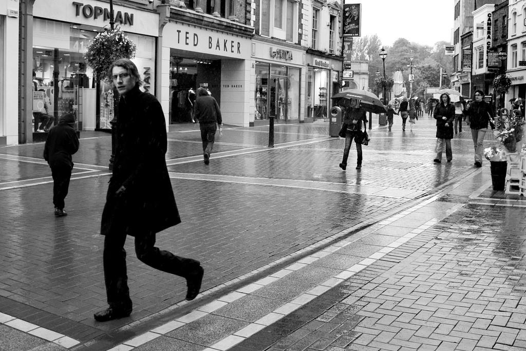 Rain on Grafton Street