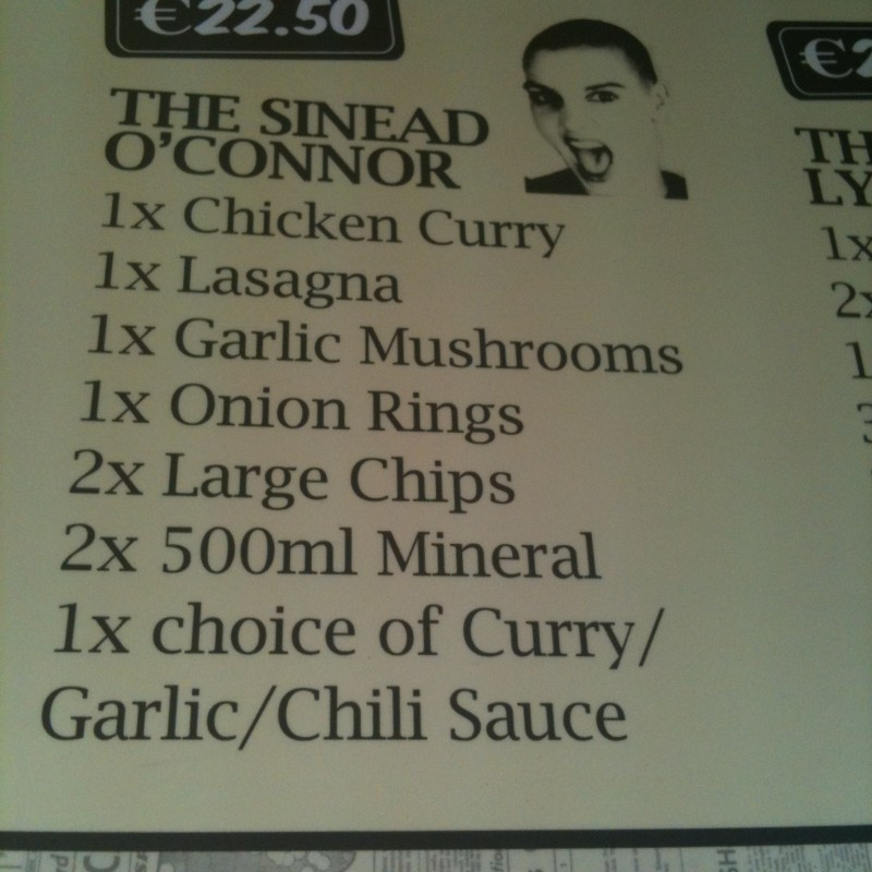 Sinead O'Connor at the Kingfisher
