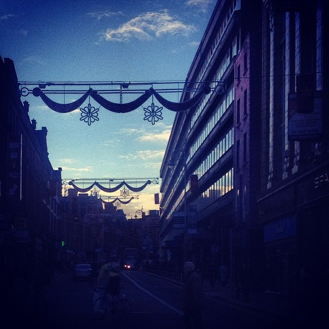 Christmas lights up on George's Street!