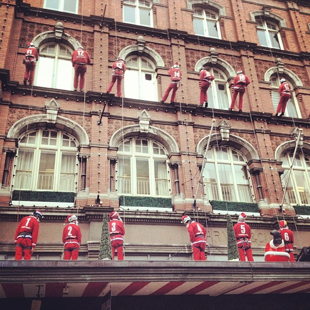 Santas at Arnotts