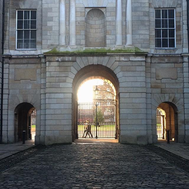 Golden sun in Dublin 1