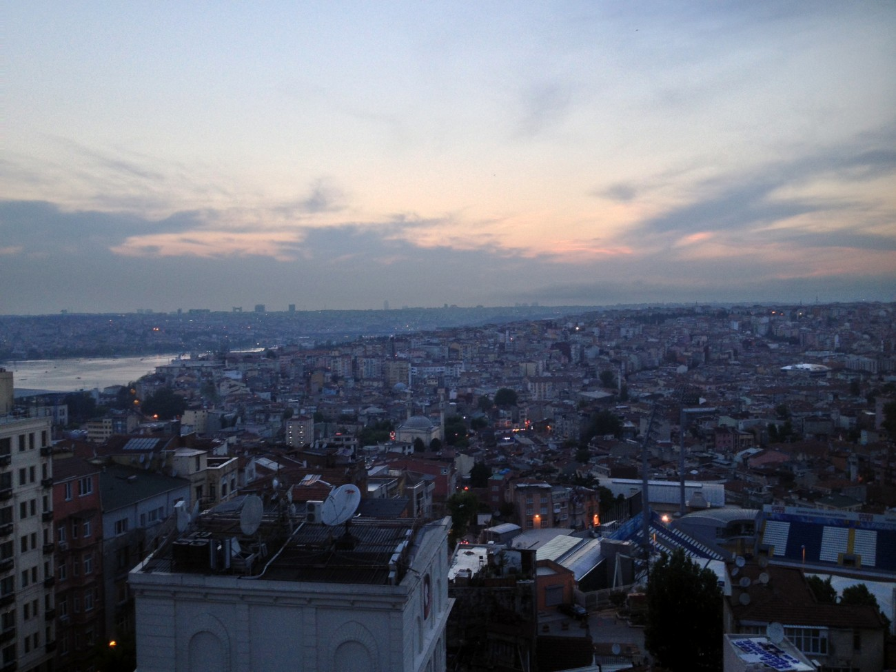Istanbul view from the Pera Palace