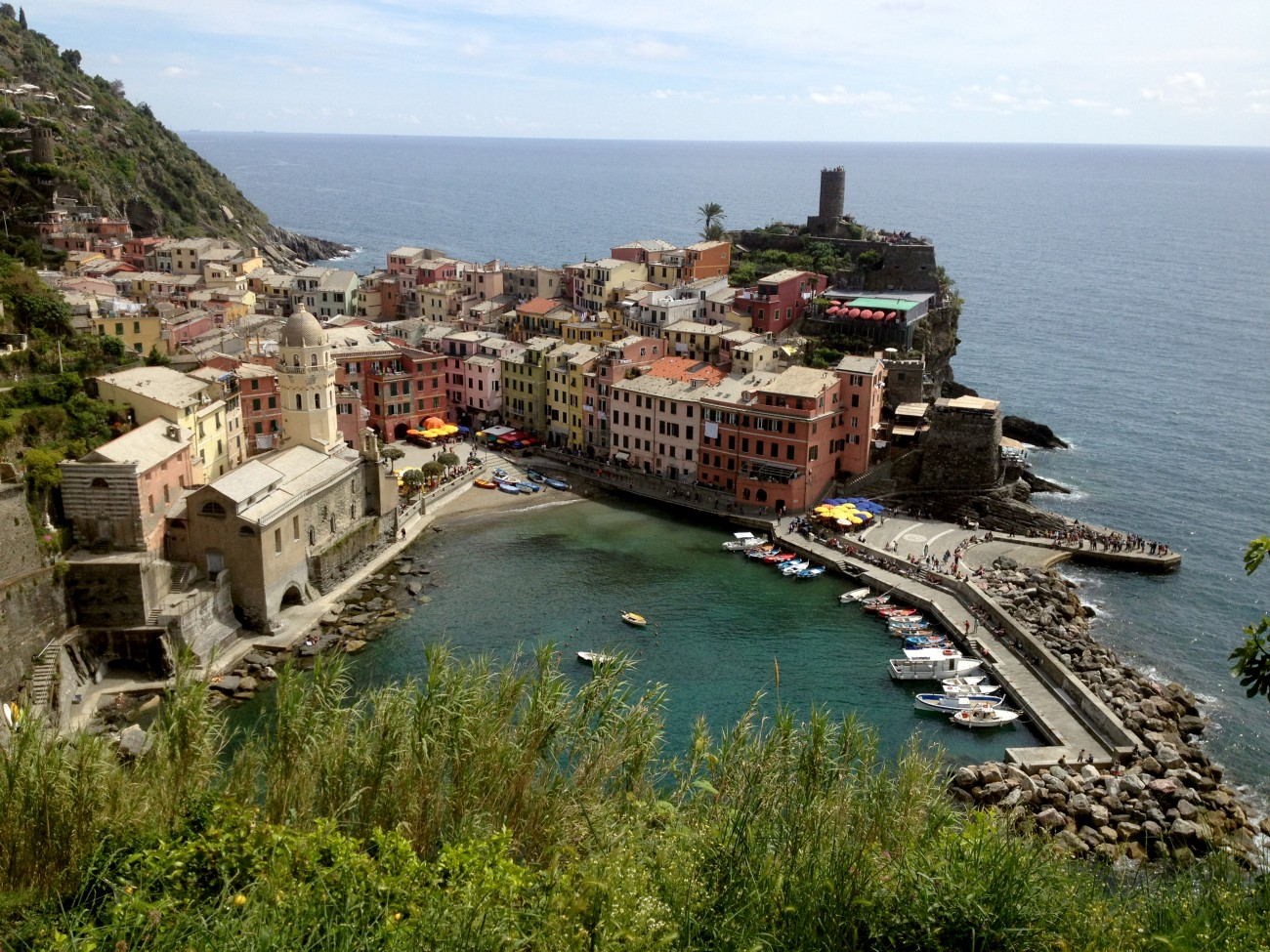 Leaving Vernazza