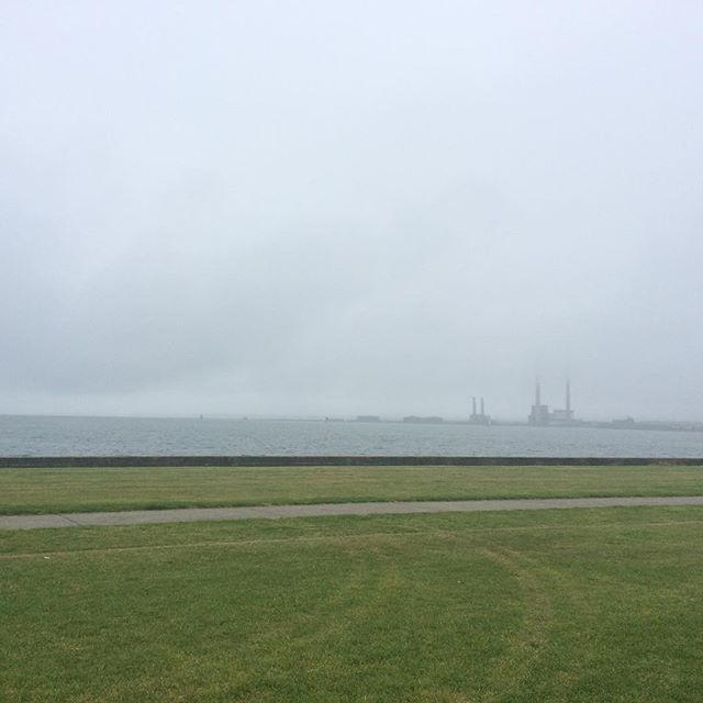 Fierce foggy over by Poolbeg