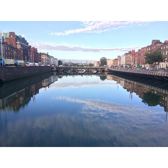 Very still Liffey this morning