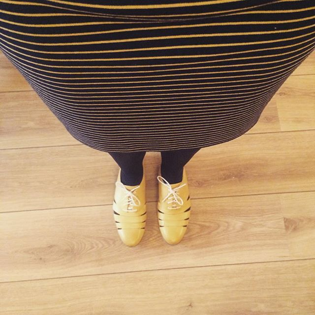 All in yellow today hey #blog