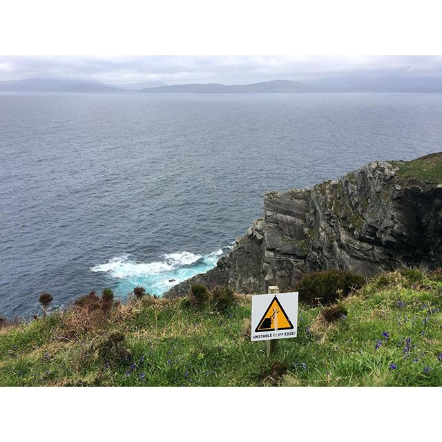 Unstable cliff edge!