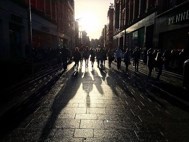 Long shadows on Henry Street