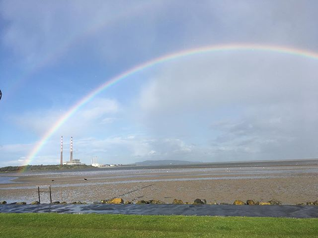 We are all out taking photos of this #blog #rainbow #poolbeg #dublin