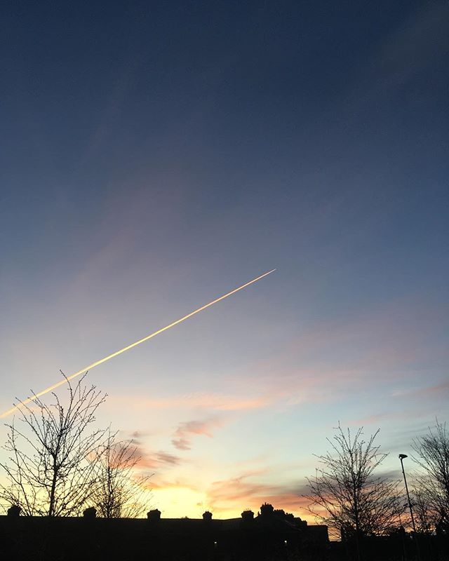 Ventured out in time to see the sunset #blog #fuckchristmas