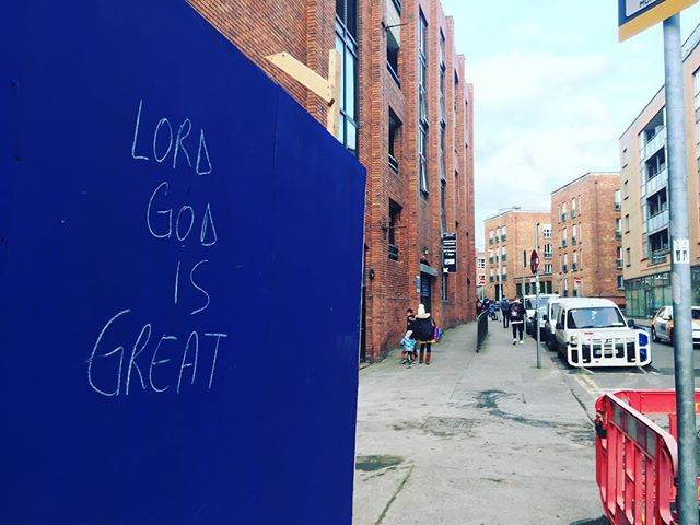 We have very wholesome graffiti on the northside #dublin #blog #graffiti #god