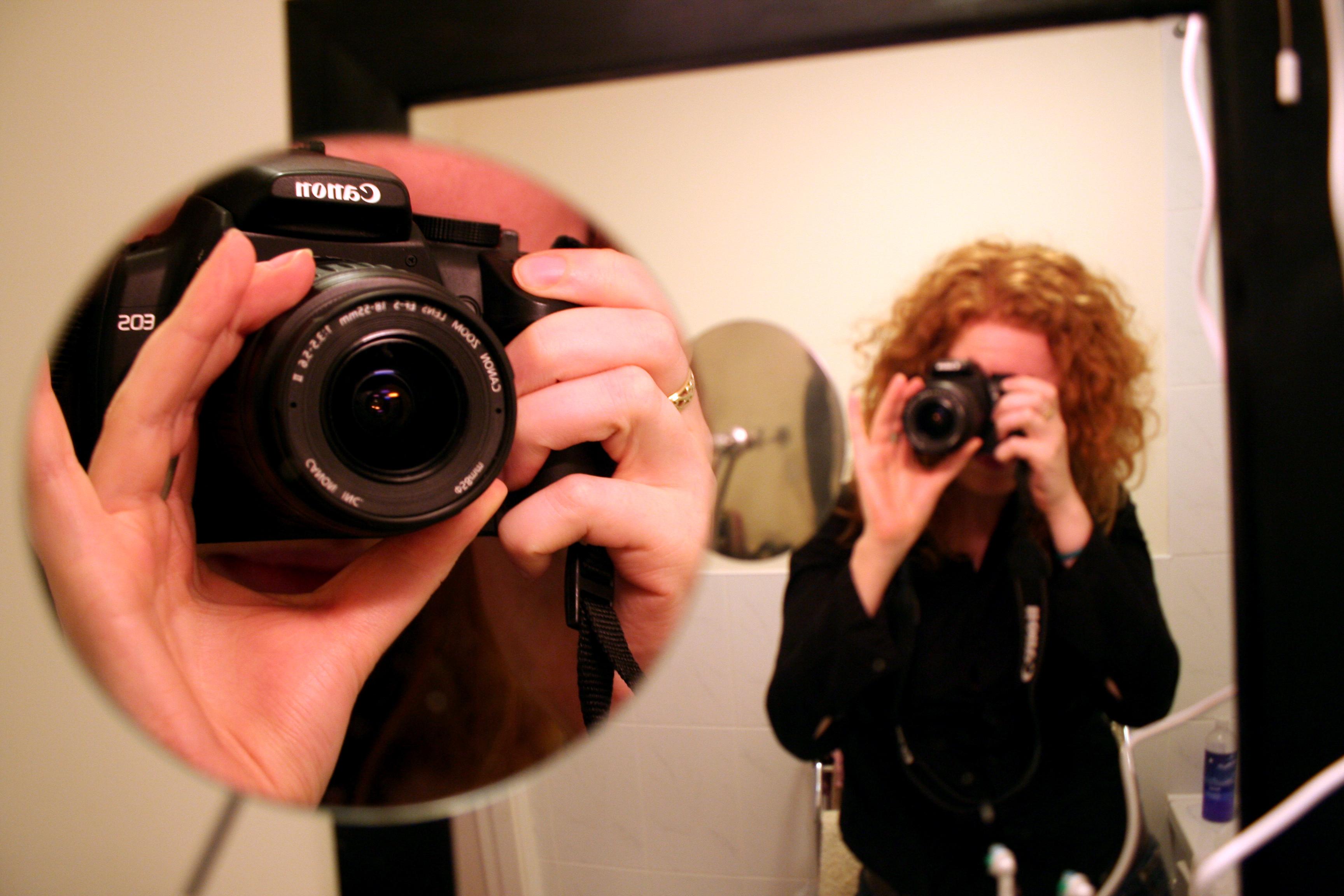 Camera in mirror
