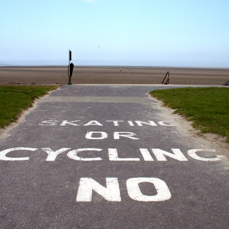 Skating or cycling NO