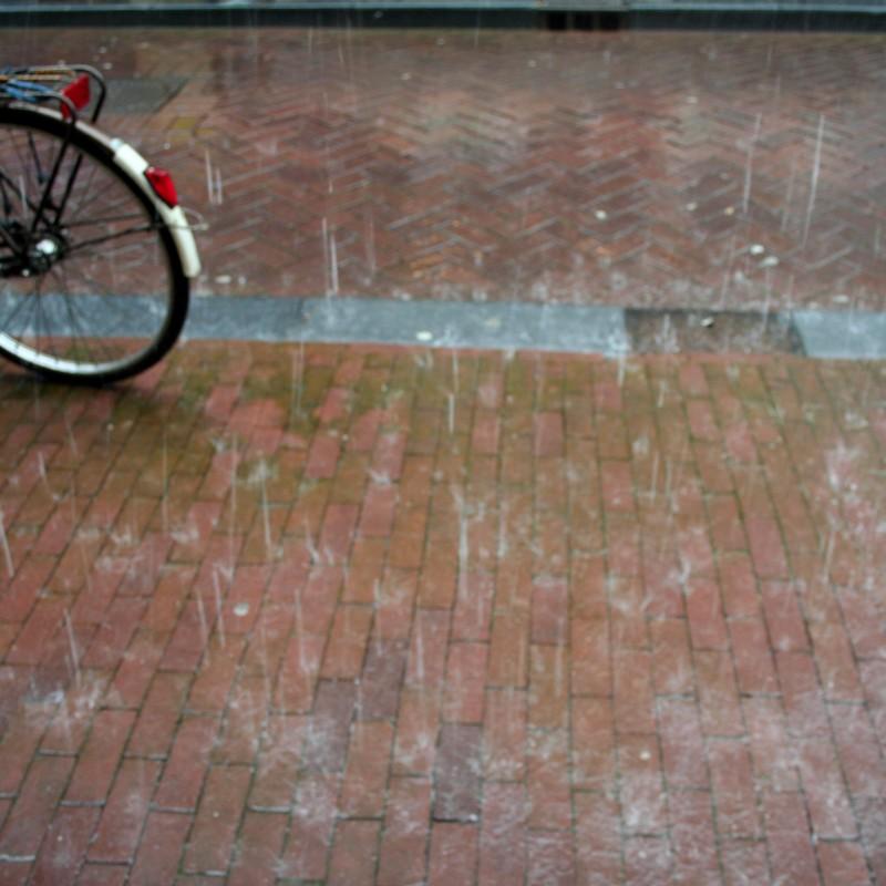 Amsterdam rain bike
