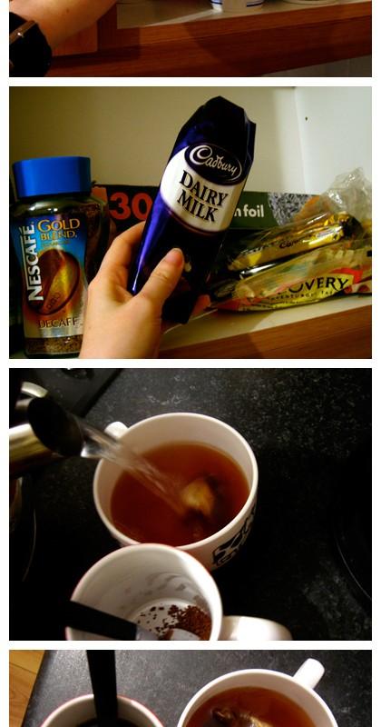 Tea chocolate life