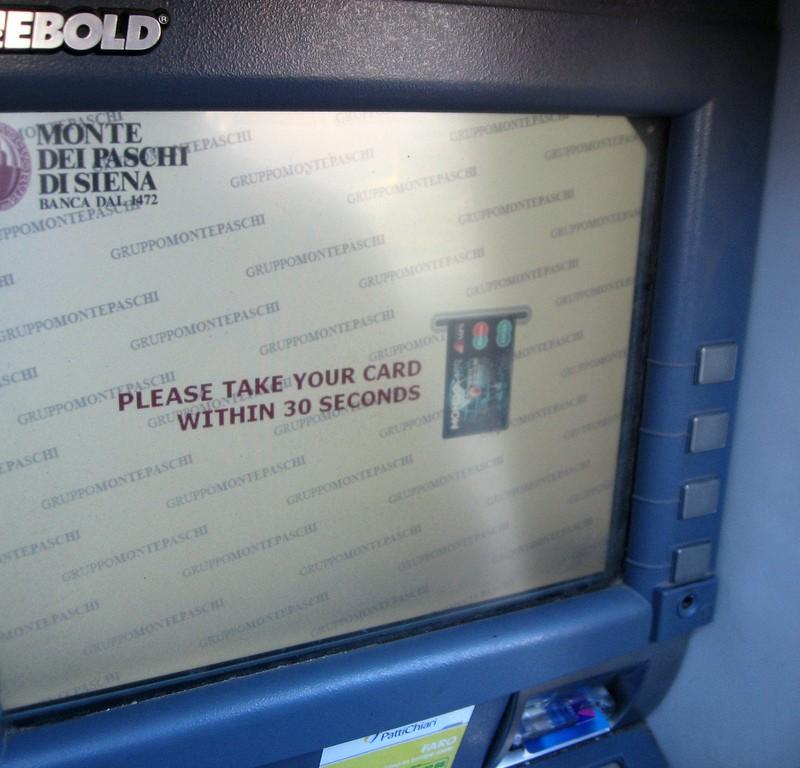 ATM in Italy