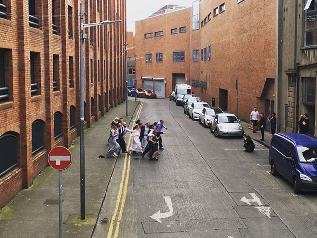 Very much enjoying watching weddings and their photo shoots across the road at @chocofactorydublin this summer