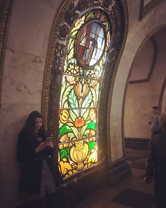 """I'm beside stained glass window no. 40"""
