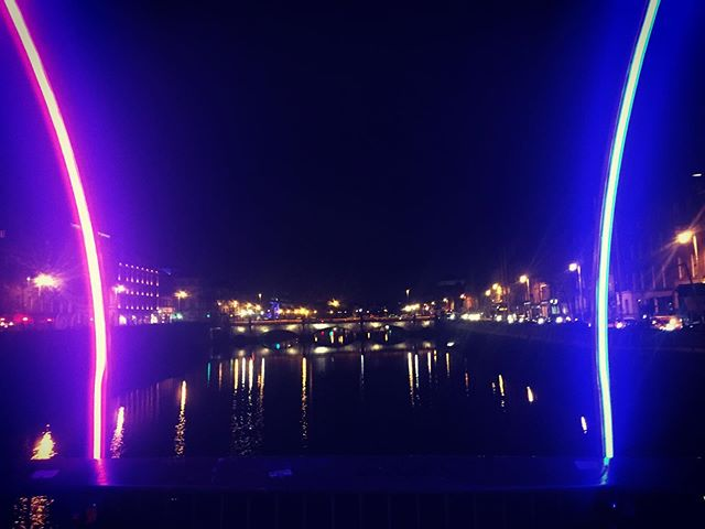 The river is neon
