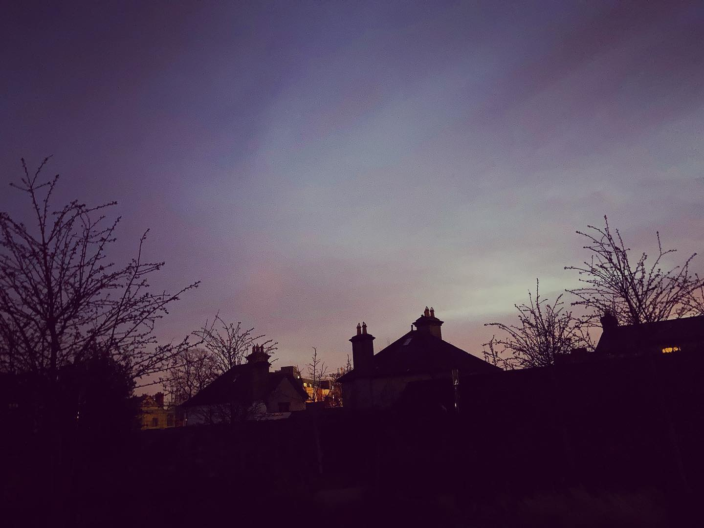 Good oul purpley sky